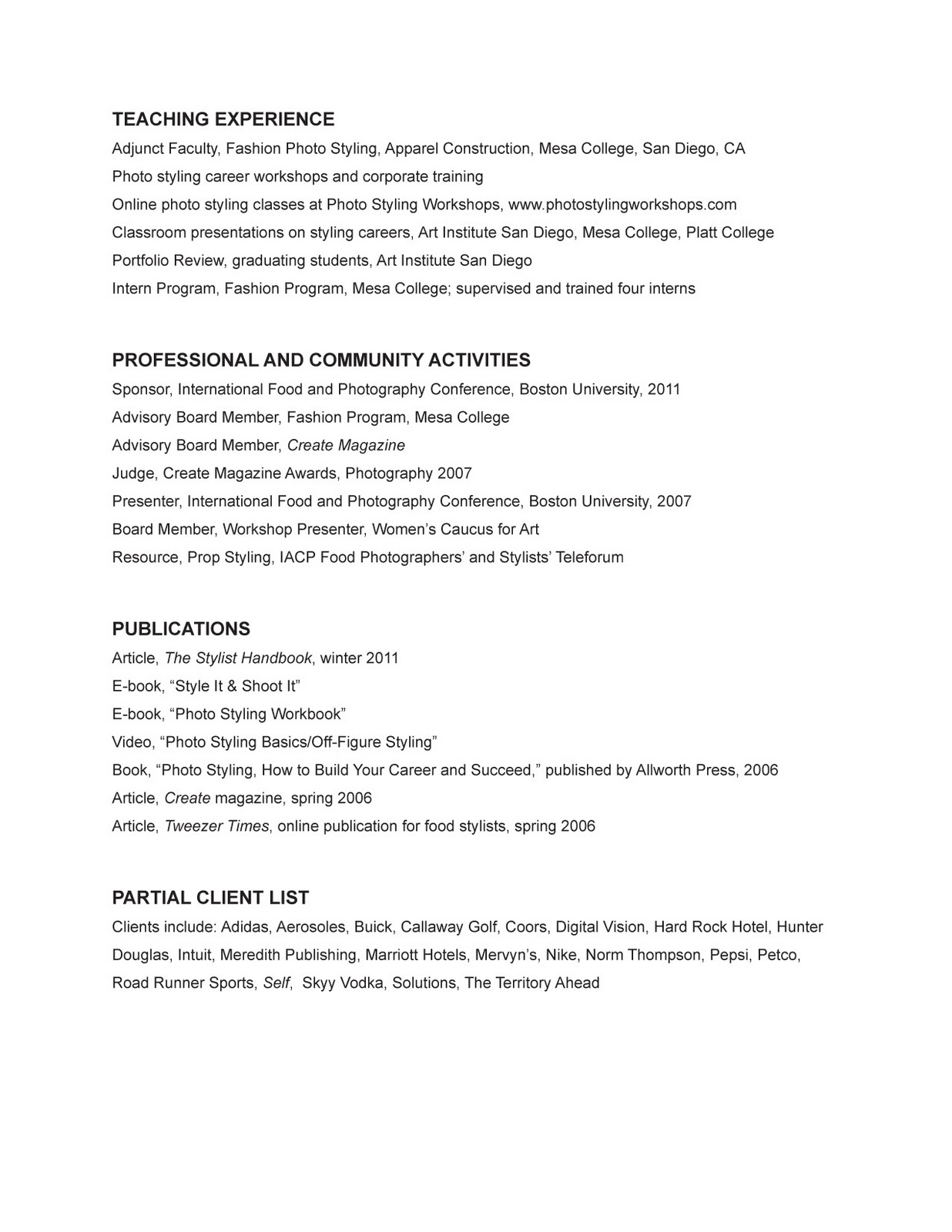 resume 1 year experience registered resume